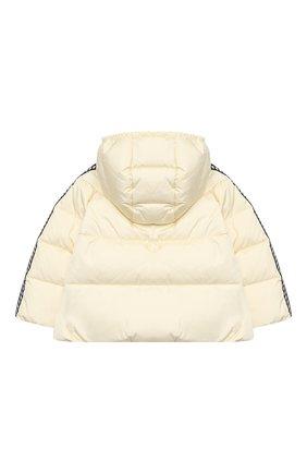 Детского пуховая куртка GUCCI белого цвета, арт. 622832/XWAK7 | Фото 2