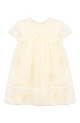 Женский шелковое платье GUCCI белого цвета, арт. 621092/ZAE5E | Фото 2