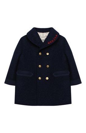 Детского шерстяное пальто GUCCI синего цвета, арт. 616200/XWAJ0 | Фото 1