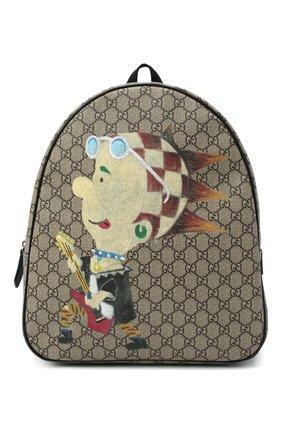 Детская рюкзак GUCCI бежевого цвета, арт. 433578/2DHCN | Фото 1