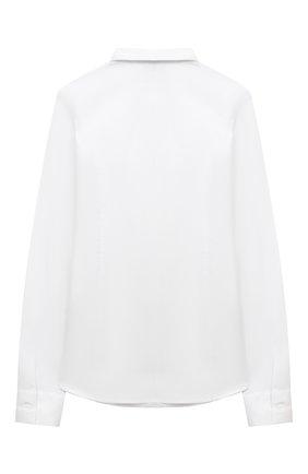 Детское хлопковая блузка DAL LAGO белого цвета, арт. R407A/7537/13-16 | Фото 2
