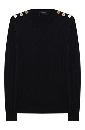 Детский шерстяной пуловер DAL LAGO темно-синего цвета, арт. R567/8931/7-12 | Фото 1