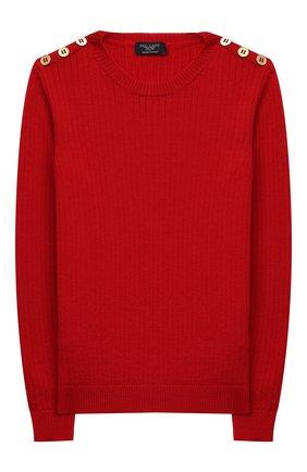 Детский шерстяной пуловер DAL LAGO красного цвета, арт. R567/8931/7-12 | Фото 1