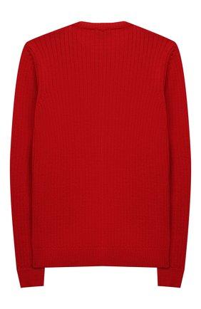 Детский шерстяной пуловер DAL LAGO красного цвета, арт. R567/8931/7-12 | Фото 2