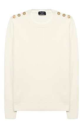 Детский шерстяной пуловер DAL LAGO бежевого цвета, арт. R567/8931/7-12 | Фото 1