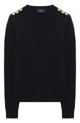 Детский шерстяной пуловер DAL LAGO темно-синего цвета, арт. R567/8931/13-16 | Фото 1