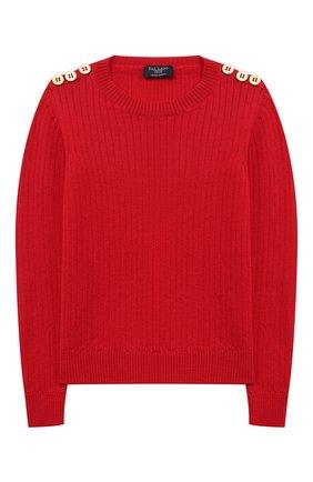 Детский шерстяной пуловер DAL LAGO красного цвета, арт. R567/8931/13-16 | Фото 1