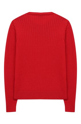 Детский шерстяной пуловер DAL LAGO красного цвета, арт. R567/8931/13-16 | Фото 2