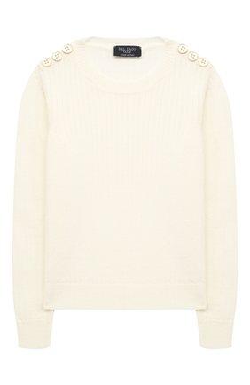 Детский шерстяной пуловер DAL LAGO бежевого цвета, арт. R567/8931/13-16 | Фото 1