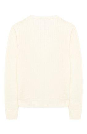 Детский шерстяной пуловер DAL LAGO бежевого цвета, арт. R567/8931/13-16 | Фото 2