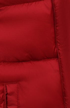 Детского пуховик EMPORIO ARMANI красного цвета, арт. 6HHBL1/1NLSZ   Фото 3