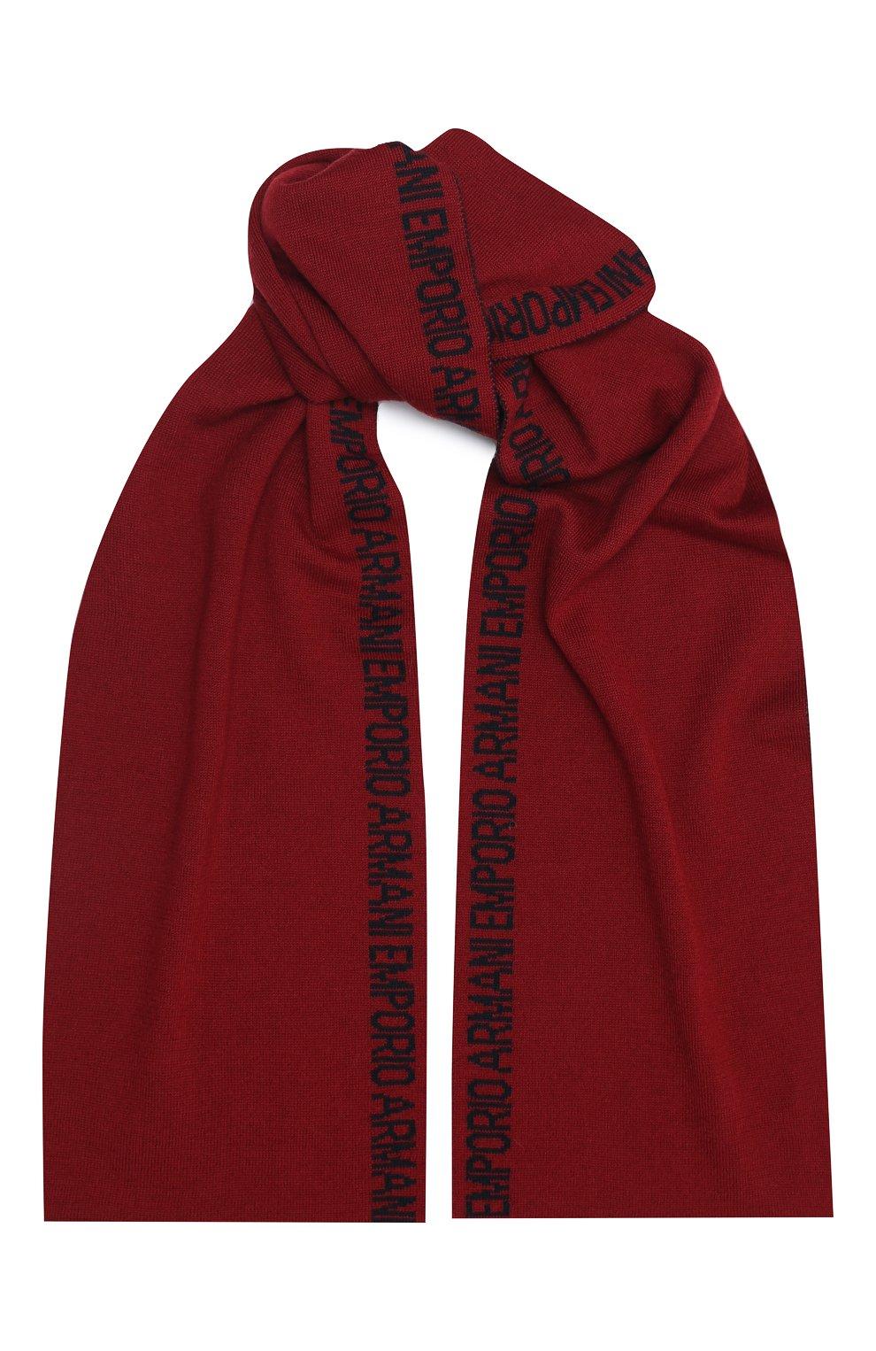 Детский шарф EMPORIO ARMANI красного цвета, арт. 404614/0A465 | Фото 1