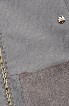 Детское пальто из хлопка и шерсти HERNO серого цвета, арт. CA0008G/33600/10A-14A | Фото 3