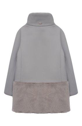 Детское пальто из хлопка и шерсти HERNO серого цвета, арт. CA0008G/33600/4A-8A | Фото 2