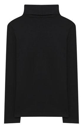 Детская хлопковая водолазка SIMONETTA черного цвета, арт. 1N8100/NC470/10-14+ | Фото 2