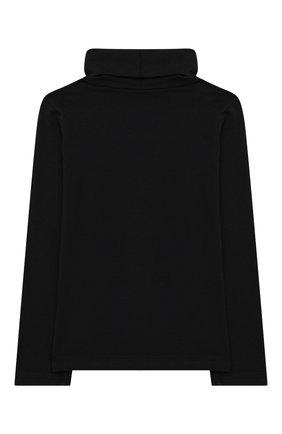Детская хлопковая водолазка SIMONETTA черного цвета, арт. 1N8100/NC470/5-8 | Фото 2