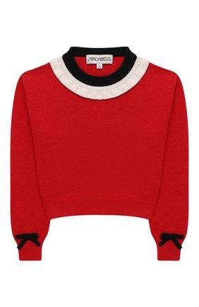 Детский шерстяной пуловер SIMONETTA красного цвета, арт. 1N9510/NF190/5-8 | Фото 1