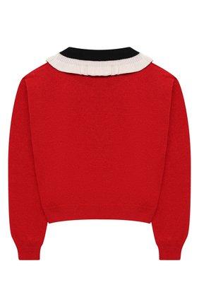 Детский шерстяной пуловер SIMONETTA красного цвета, арт. 1N9510/NF190/5-8 | Фото 2