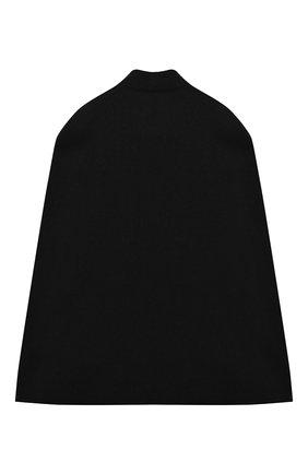 Детское шерстяное пончо BALMAIN черного цвета, арт. 6N2090/ND870/12-16 | Фото 2