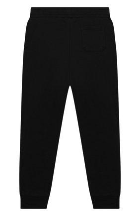 Детские хлопковые брюки BALMAIN черного цвета, арт. 6N6607/NX300/4-10 | Фото 2