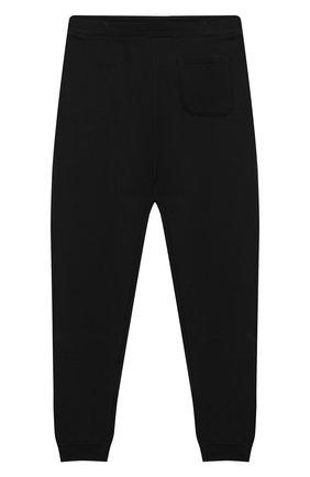 Детские хлопковые брюки BALMAIN черного цвета, арт. 6N6607/NX300/12-16 | Фото 2