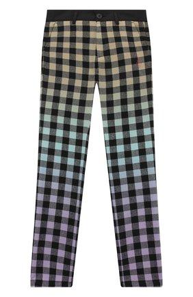 Детские хлопковые брюки MARCELO BURLON KIDS OF MILAN черного цвета, арт. 20I/B/MB/3060/0952/8-14Y | Фото 1