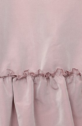 Детское платье DOUUOD розового цвета, арт. 20I/U/JR/AB02/1355/10A-14A | Фото 3 (Рукава: Длинные; Случай: Повседневный; Материал внешний: Синтетический материал; Материал подклада: Хлопок)