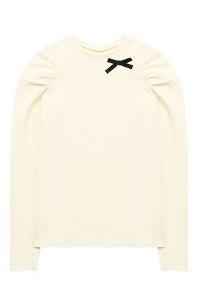 Детский хлопковый пуловер DOUUOD белого цвета, арт. 20I/U/JR/JM10/3013/10A-14A | Фото 1