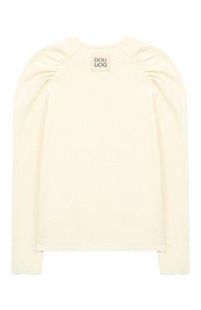 Детский хлопковый пуловер DOUUOD белого цвета, арт. 20I/U/JR/JM10/3013/10A-14A | Фото 2