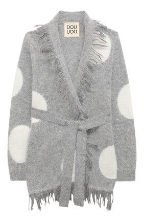 Детский шерстяной кардиган DOUUOD серого цвета, арт. 20I/U/JR/MA02/7025/4A-8A   Фото 1