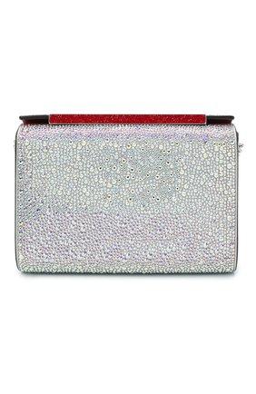 Женская сумка vanite large CHRISTIAN LOUBOUTIN серебряного цвета, арт. vanite large clutch metal suede/strass | Фото 1