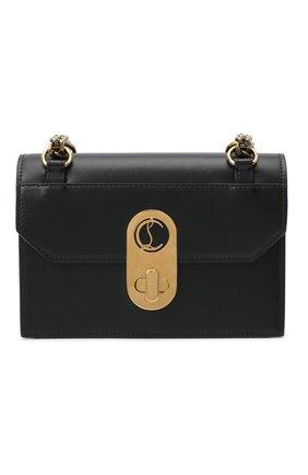 Женская сумка elisa mini CHRISTIAN LOUBOUTIN черного цвета, арт. elisa mini  calf paris   Фото 1