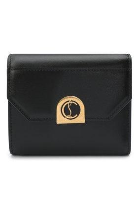 Женские кожаное портмоне elisa CHRISTIAN LOUBOUTIN черного цвета, арт. elisa compact wallet calf p   Фото 1