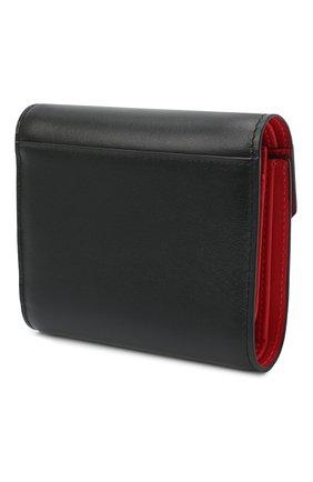 Женские кожаное портмоне elisa CHRISTIAN LOUBOUTIN черного цвета, арт. elisa compact wallet calf p   Фото 2