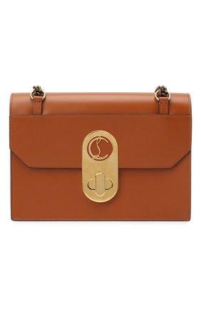 Женская сумка elisa large CHRISTIAN LOUBOUTIN коричневого цвета, арт. elisa large calf paris | Фото 1