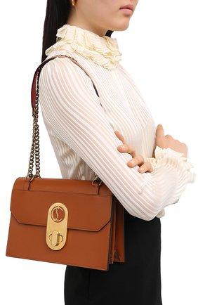 Женская сумка elisa large CHRISTIAN LOUBOUTIN коричневого цвета, арт. elisa large calf paris | Фото 2