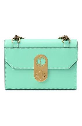 Женская сумка elisa mini CHRISTIAN LOUBOUTIN бирюзового цвета, арт. elisa mini  calf paris   Фото 1
