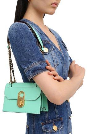 Женская сумка elisa mini CHRISTIAN LOUBOUTIN бирюзового цвета, арт. elisa mini  calf paris   Фото 2