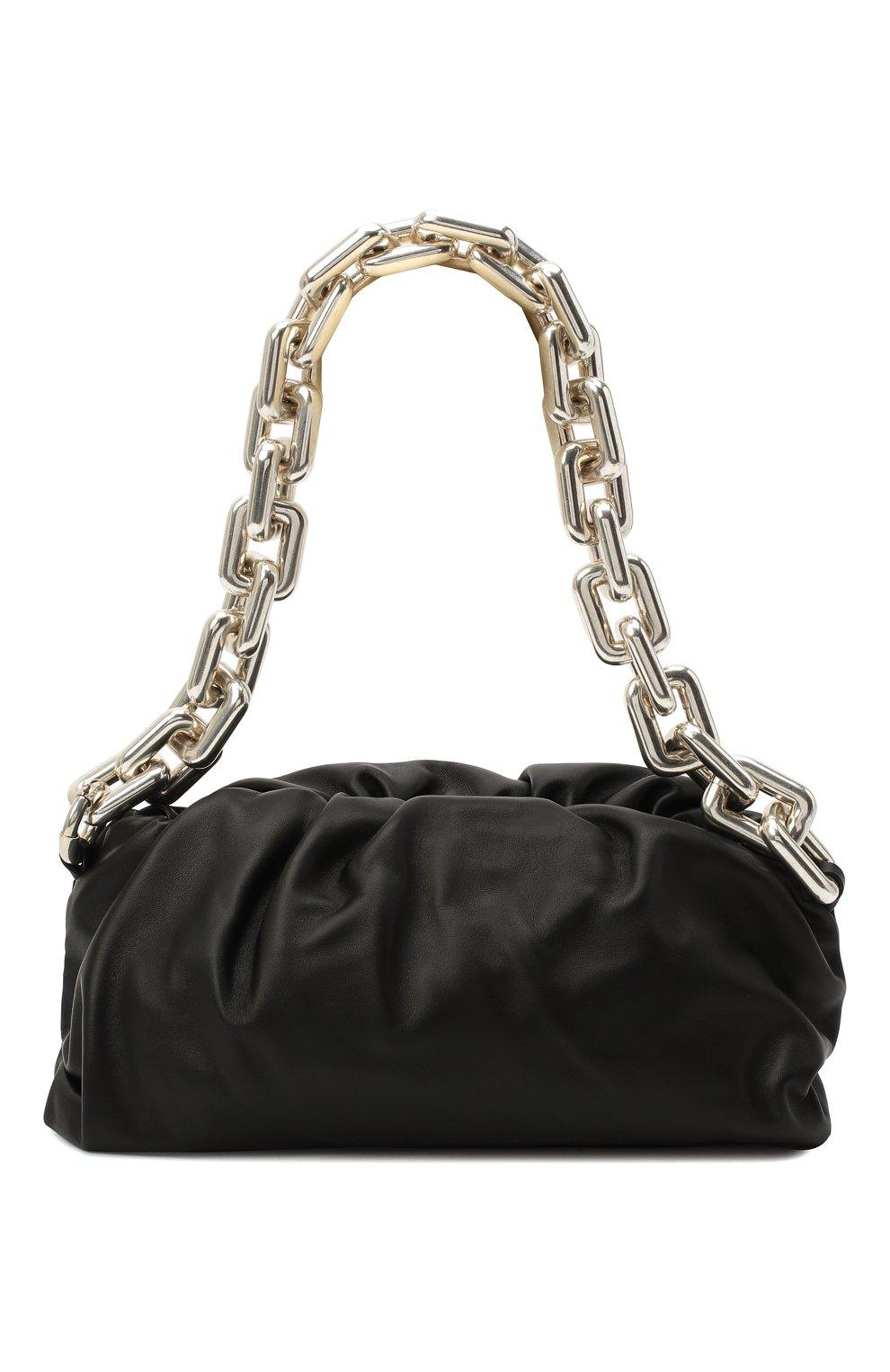 Женская сумка chain pouch BOTTEGA VENETA черного цвета, арт. 620230/VCP40 | Фото 1