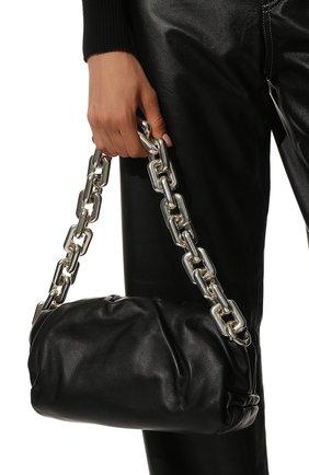 Женская сумка chain pouch BOTTEGA VENETA черного цвета, арт. 620230/VCP40 | Фото 2