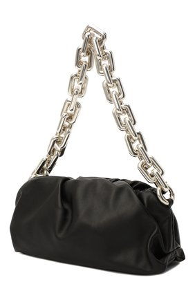 Женская сумка chain pouch BOTTEGA VENETA черного цвета, арт. 620230/VCP40 | Фото 4