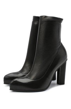 Женские кожаные ботильоны ALEXANDER MCQUEEN черного цвета, арт. 641879/WHSS1 | Фото 1