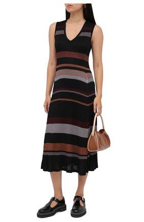 Женское платье из вискозы PROENZA SCHOULER черного цвета, арт. R2037481-KY195 | Фото 2