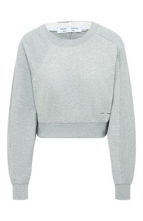 Женская хлопковый свитшот PROENZA SCHOULER WHITE LABEL серого цвета, арт. WL2034165-JC138 | Фото 1
