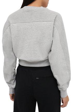 Женский хлопковый свитшот PROENZA SCHOULER WHITE LABEL серого цвета, арт. WL2034165-JC138 | Фото 4