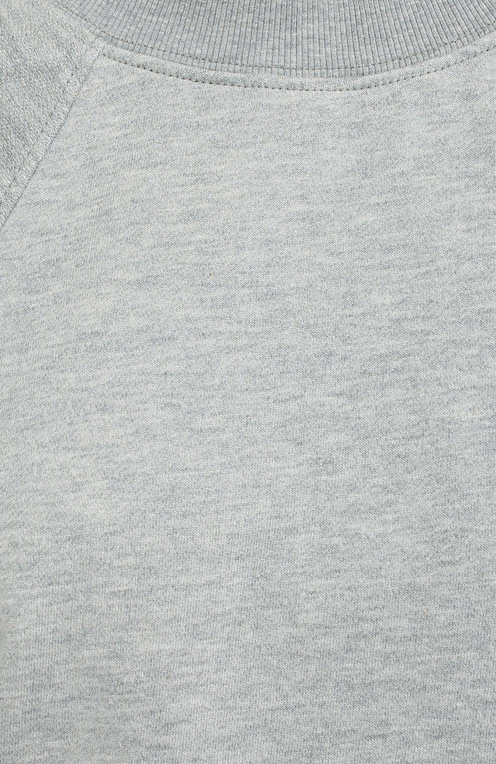 Женский хлопковый свитшот PROENZA SCHOULER WHITE LABEL серого цвета, арт. WL2034165-JC138 | Фото 5