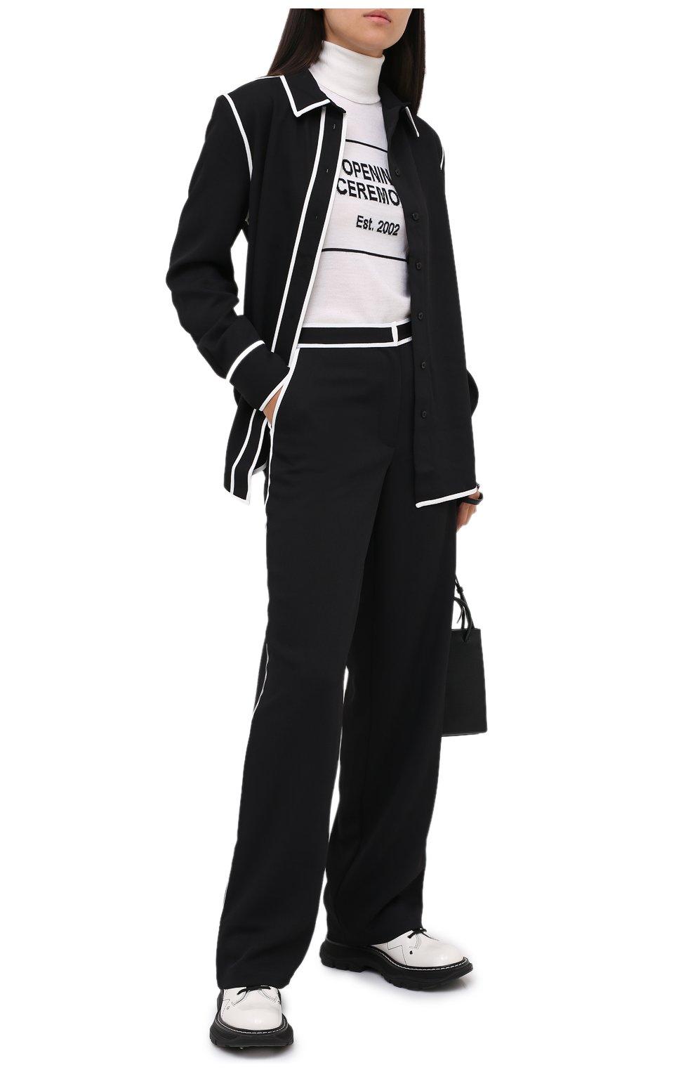 Женские брюки PROENZA SCHOULER WHITE LABEL черного цвета, арт. WL2036016-BY169   Фото 2