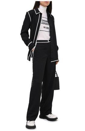 Женские брюки PROENZA SCHOULER WHITE LABEL черного цвета, арт. WL2036016-BY169 | Фото 2