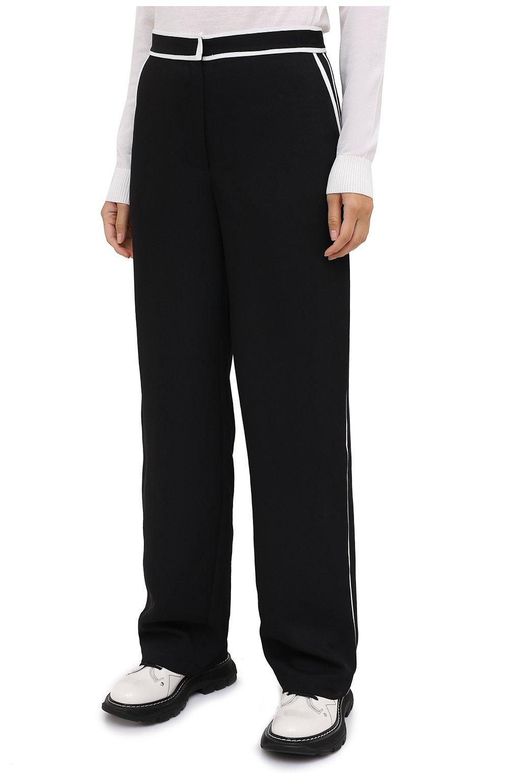 Женские брюки PROENZA SCHOULER WHITE LABEL черного цвета, арт. WL2036016-BY169   Фото 3