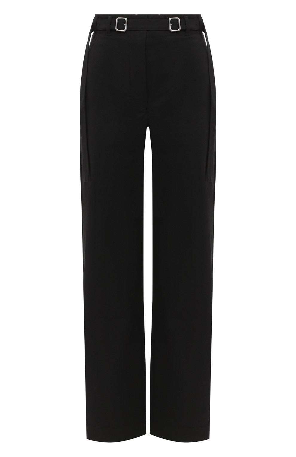 Женские хлопковые брюки PROENZA SCHOULER WHITE LABEL черного цвета, арт. WL2036042-AC110   Фото 1